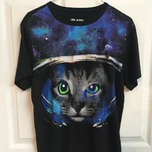 Kitty Cat Astronaut T-shirt Small